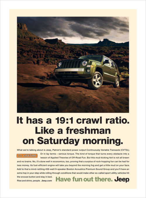 Jeep : Crawl Ratio : Single Page Ad