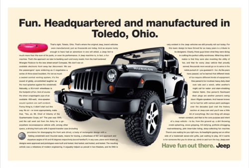 Jeep : Toledo : Two Page Spread