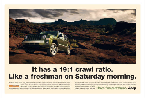 Jeep : Crawl Ratio : Two Page Spread