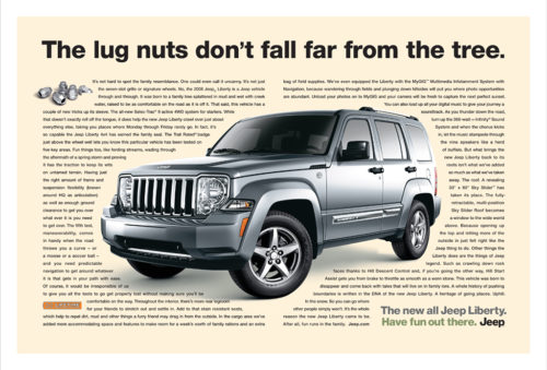 Jeep : Lugnuts : Two Page Spread