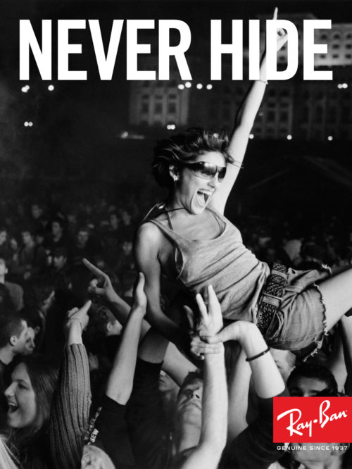 Ray-Ban : Never Hide Launch : Crowd Surfer