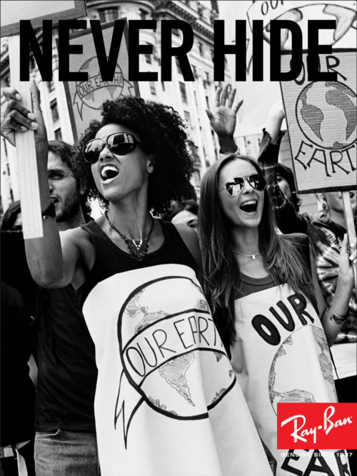Ray-Ban : Never Hide Launch : Protesters