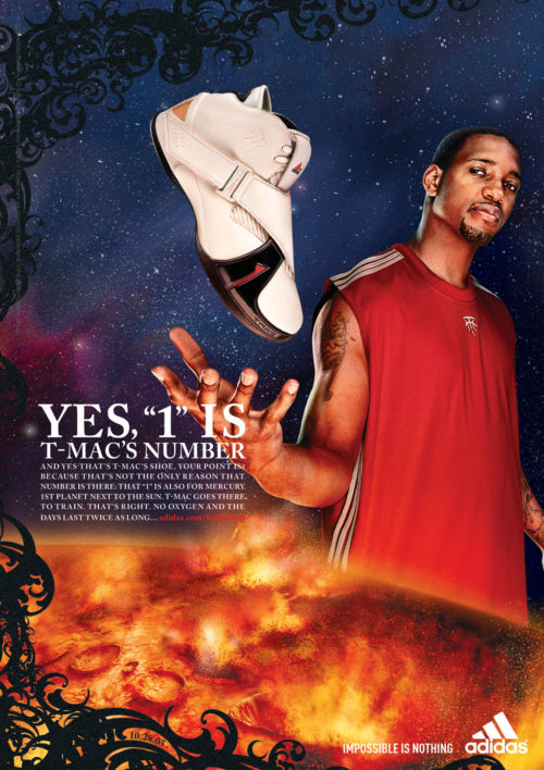 adidas : TMAC : The Number One : Single Page Ad