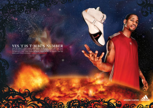 adidas : TMAC : The Number One : Two Page Spread