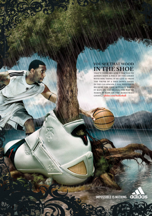adidas : TMAC : Wood in the Shoe : Single Page Ad
