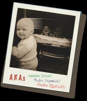 Peadro baby polaroid